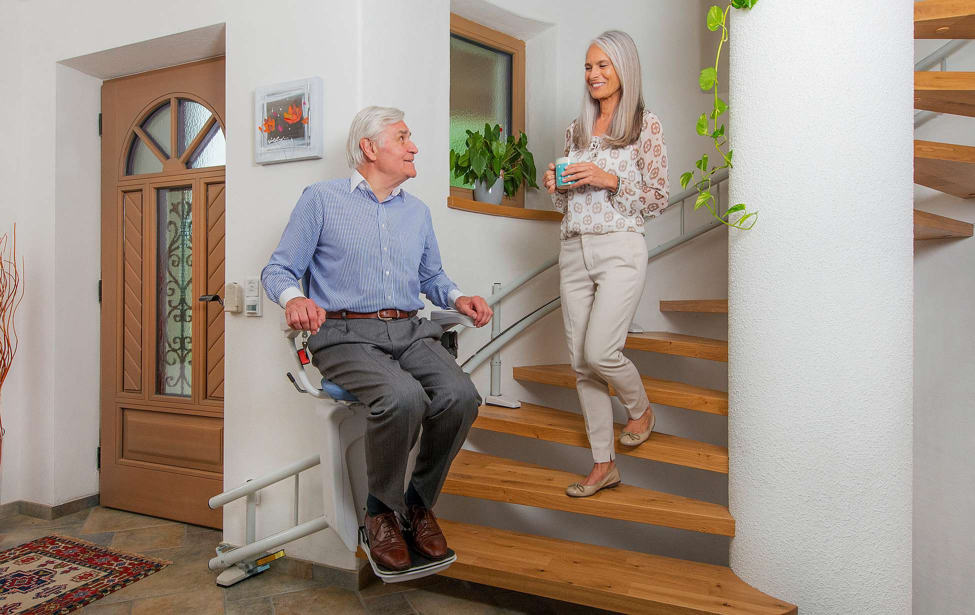 Stairlift - Alpha chairlift lift for the elderly