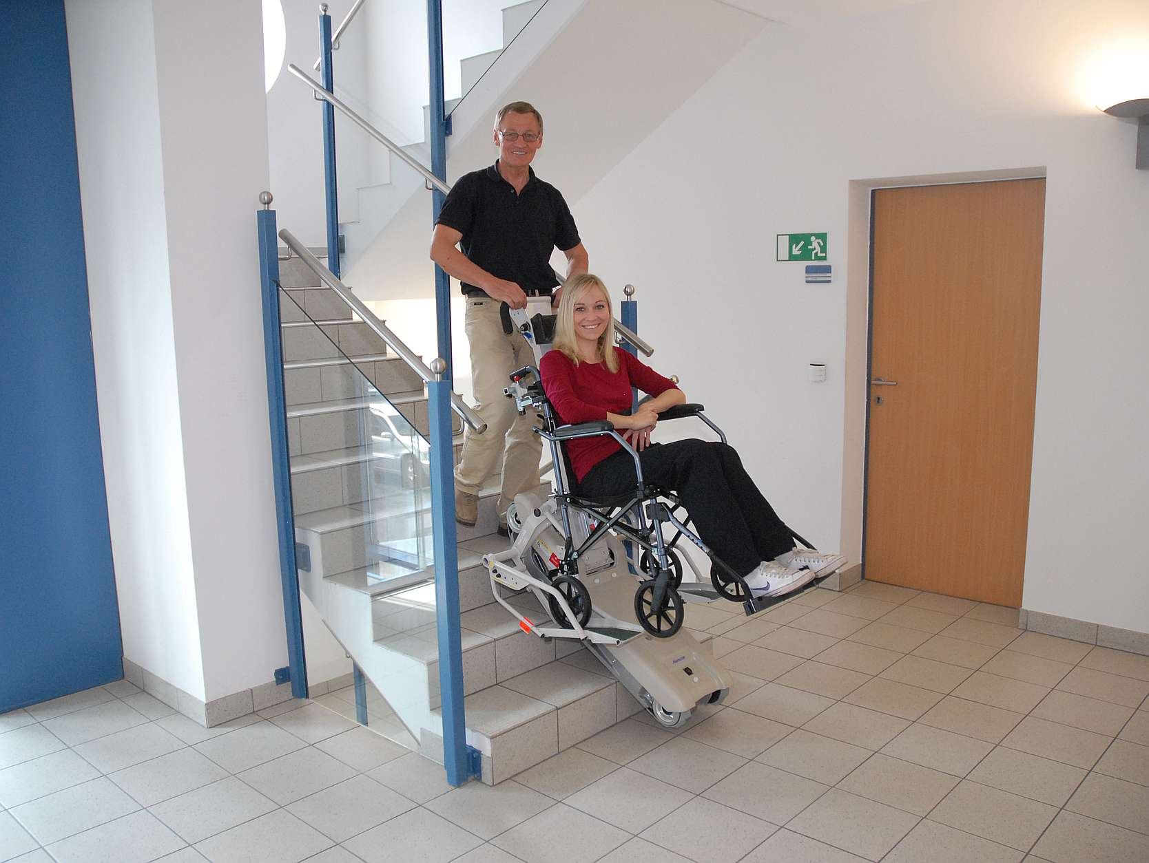 stairclimber for wheelchairsStairclimber Stair aid Mobile stairlift for wheelchair