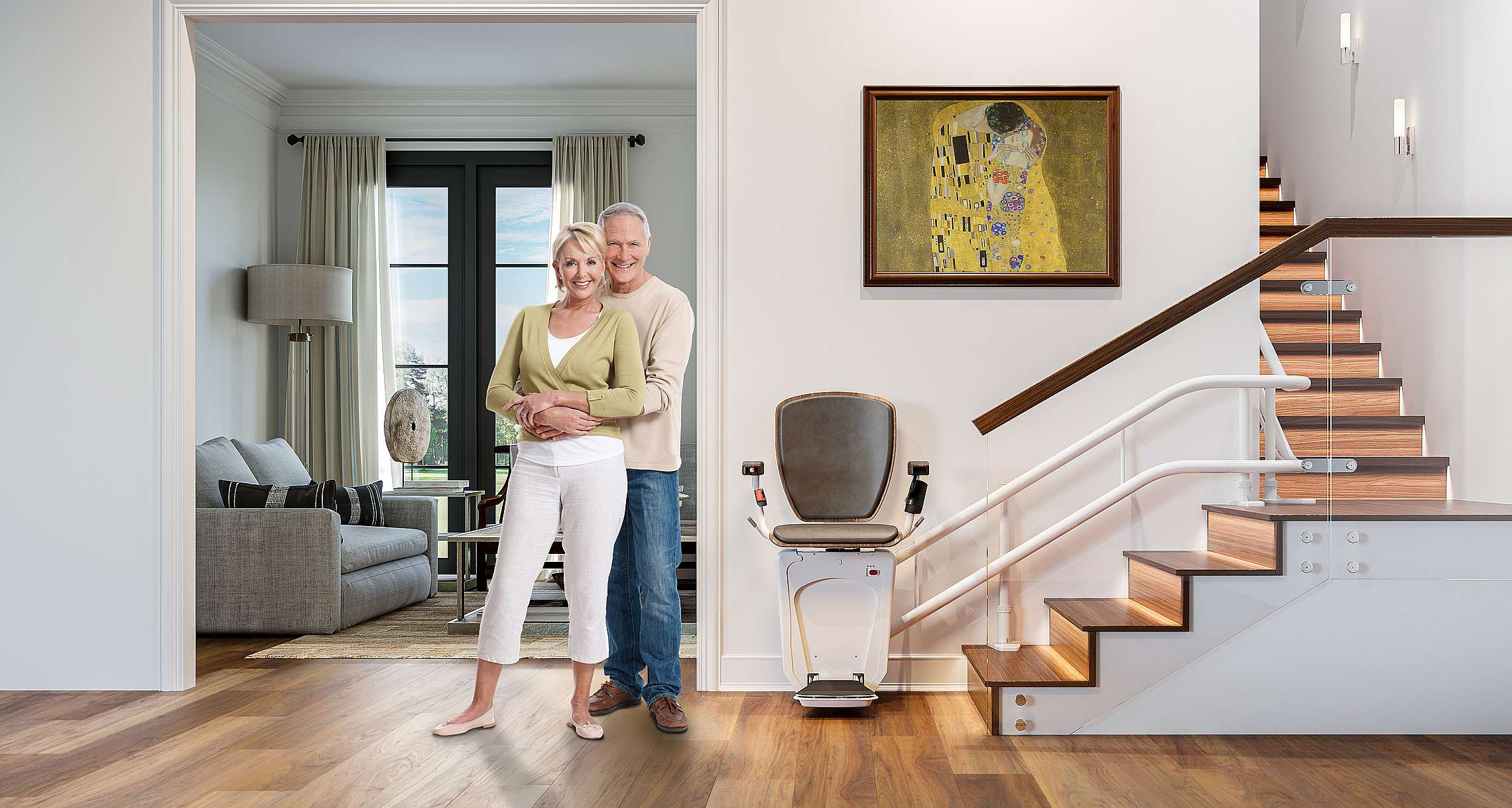 Alpha curved stairlift